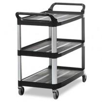 Rubbermaid 4091 Utility Cart 3-Shelf - Black
