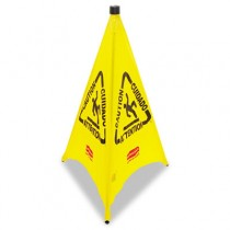 Rubbermaid 9S01 Three-Sided Wet Floor Safety Cone - Yellow