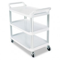 Rubbermaid 4091 Utility Cart 3-Shelf - Off-White