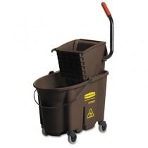 Rubbermaid 7580-88 Wavebrake 35-Quart Bucket/Wringer Combination - Brown