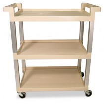 Rubbermaid 9T65-71 Service Cart 3-Shelf