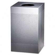 Rubbermaid SC18EPLSM Designer Line Silhouettes Steel Receptacle 29 gallon - Silver Metallic