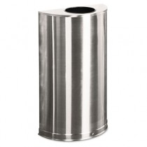 Rubbermaid SO12-SSSPL European Metallic Receptacle 12 gallon - Stainless Steel