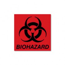 Rubbermaid BP-1 Biohazard Decal - Fluorescent Red