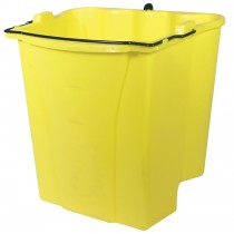 Rubbermaid 9C74 Dirty Water Bucket for Wavebrake Wringer 18-Qt 6/Case - Yellow