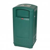 Rubbermaid 9P91 Plaza Jr. Container with Ashtray Top 35 gallon - Green