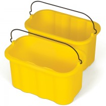 Rubbermaid 9T82 Janitor Cart-10 Quart Sanitizing Caddy - Yellow