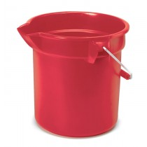 Rubbermaid 2963 10-Quart BRUTE Round Utility Pail - Red