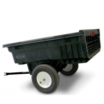 Rubbermaid 5660 Tractor Cart 10 CU FT - Black