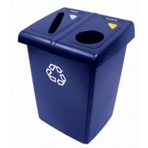 Rubbermaid 1792339 2-Stream Glutton Recycling Station 46 Gal - Blue
