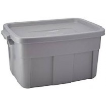 Rubbermaid 2212 Roughneck Storage Box 14 Gallon - Gray