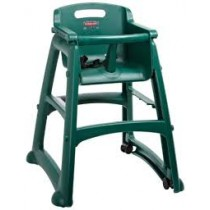 Rubbermaid 7805-08 Sturdy High Chair Fully Assembled With Wheels - Green