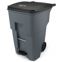 Rubbermaid 1971991 Brute Rollout Container, Square, 95 gallon - Gray