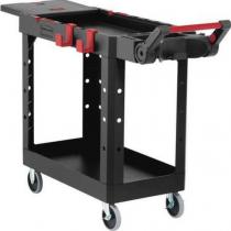 Rubbermaid 1997206 Heavy Duty Adaptable Utility Cart (Small) - Black