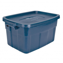 Rubbermaid RMRT140008 Roughneck Storage Box 14 Gallon - Navy Blue