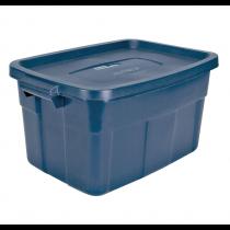 Rubbermaid RMRT250001 Roughneck Storage Box 25 Gallon - Navy Blue