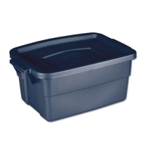 Rubbermaid RMRT030003 Roughneck Storage Box 3 Gallon - Navy Blue