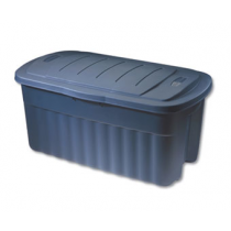 Rubbermaid RMRT50000 Roughneck Jumbo Storage Box, 50 Gallon, Dark Indigo Metallic