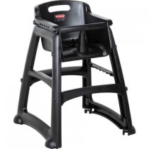 Rubbermaid 7805-08 Sturdy High Chair Fully Assembled With Wheels - Black