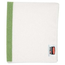 "Rubbermaid 1805730 HYGEN 16""x19"" Sanitizer Safe Food Service Microfiber Cloth, 288 Cloths - Green"