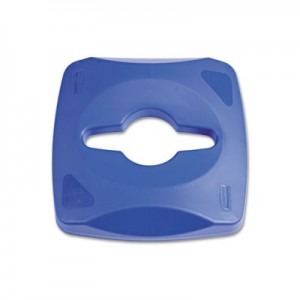 Rubbermaid 1788374 Single Stream Recycling Top for 3569-73 - Blue