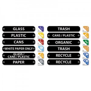 Rubbermaid 1792975 Recycle Label Kit
