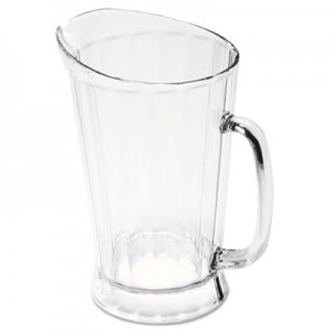 Rubbermaid 3334 Bouncer II Plastic Pitcher, 60 oz - Clear