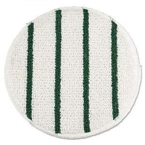"""Rubbermaid P269 Low Profile Scrub-Strip Carpet Bonnet 19"""" - White/Green"""