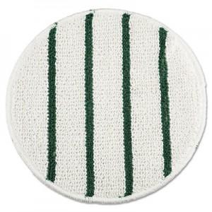 """Rubbermaid P271 Low Profile Scrub-Strip Carpet Bonnet 21"""" - White/Green"""