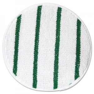 """Rubbermaid P267 Low Profile Scrub-Strip Carpet Bonnet 17"""" - White/Green"""