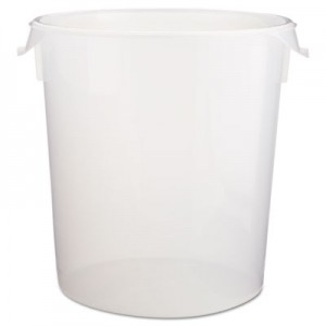 Rubbermaid 5728-24 Round Storage Container, 22qt - Clear