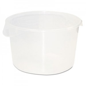 Rubbermaid 5726-24 Round Storage Container, 12qt - Clear
