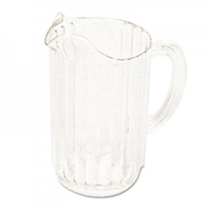 Rubbermaid 3337 Bouncer Plastic Pitcher, 54 oz - Clear