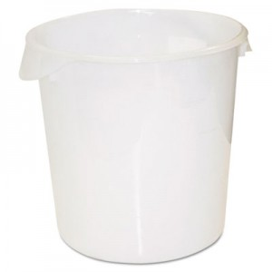 Rubbermaid 5728 Round Storage Container, 22qt - White