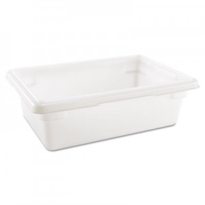 Rubbermaid 3509 Food/Tote Box, 3.5 gal - White
