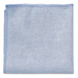 "Rubbermaid 1820579 Microfiber Cleaning Cloths 12"", 24/Case - Blue"