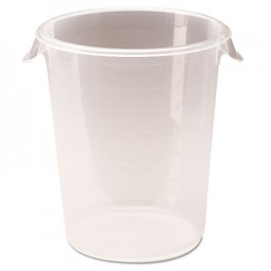 Rubbermaid 5724-24 Round Storage Container, 8qt - Clear