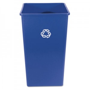 Rubbermaid 3959-73 Recycling Square Container 50 gallon - Blue