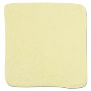 "Rubbermaid 1820580 Microfiber Cleaning Cloths 12"", 24/Case - Yellow"