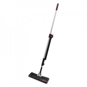 Rubbermaid 1863885 Executive Double-Sided Microfiber Spray Mop, Black/Silver Handle, 55 3/4""