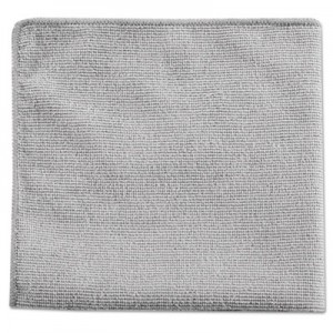 "Rubbermaid 1863888 Microfiber Cleaning Cloths 12"", 24/Case - Gray"