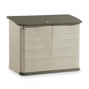 Rubbermaid 3747 Large Horizontal Storage Shed - Olive/Sandstone