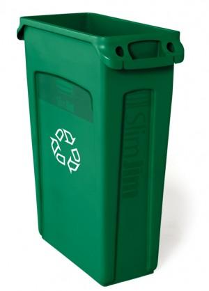 Rubbermaid 3540-07 Slim Jim Recycling w/Venting Channels 23 gallon - Green