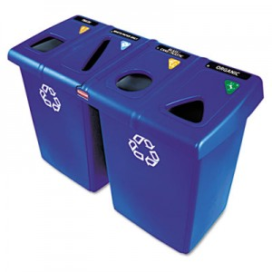 Rubbermaid 1792372 Glutton Recycling Station 92 gallon - Blue