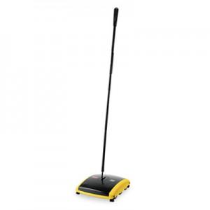 "Rubbermaid 4213-88 Dual Action Sweeper Nylon Bristle 44"" Steel/Plastic Handle"