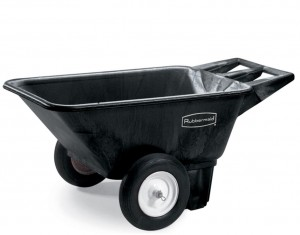 Rubbermaid 5640 Low Wheel Cart 7.5 CU FT - Black