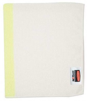 "Rubbermaid 1805729 HYGEN 16""x19"" Sanitizer Safe Food Service Microfiber Cloth, 24 Cloths - Yellow"